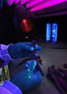Fluorescent dye penetrant inspection - FORGINAL medical